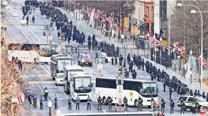 Joe Biden chases Washington at inauguration