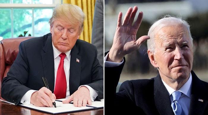 Trump left a letter for Joe!