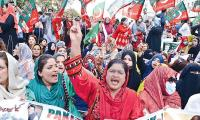 PTI protests against arrests of Haleem Adil Sheikh and workers, demands IGP's removal