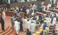 Chaos rules NA session during Shehbaz's speech