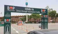 Drive through vaccination centre at ICT's F-9 Park set up