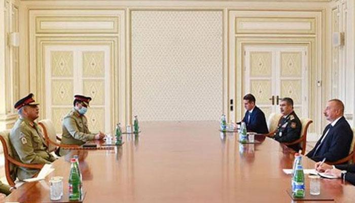 Gen Bajwa, Azeri president discuss military cooperation, regional issues