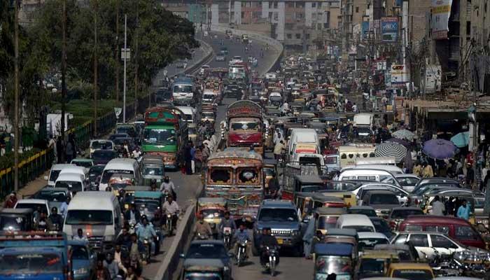 Rush hour in Karachi. -AFP
