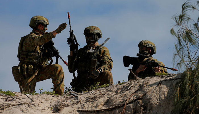 Chinese surveillance vessel monitoring mly exercises: Australia-US war games begin