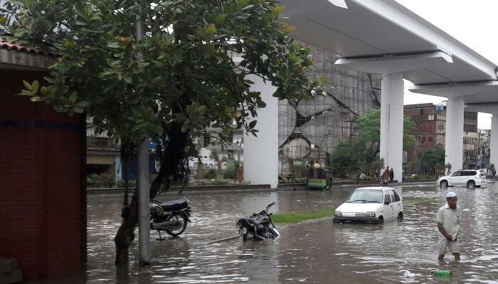 Rain inundates Lahore roads, animal markets