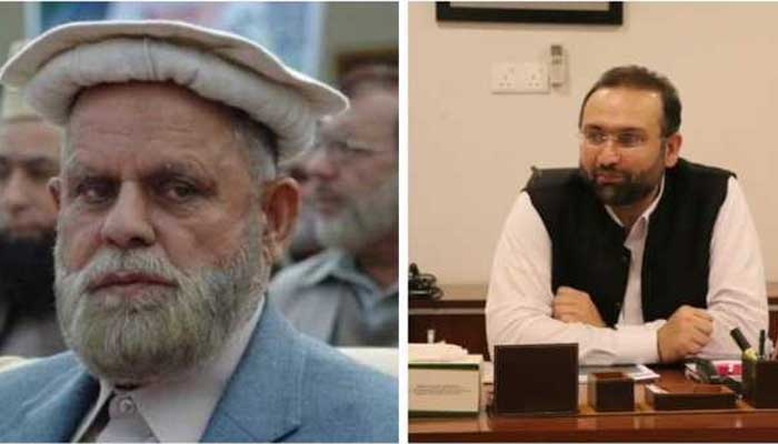 File photo ofAdviser to Chief Minister on Revenue and Estate Qalandar Khan Lodhi (L) and Minister for Social Welfare Dr Hisham Inamullah Khan (R)