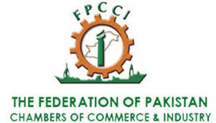 The logo of Federation of Pakistan Chambers of Commerce and Industry (FPCCI).