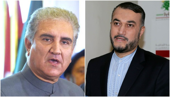 Pakistans Foreign Minister Shah Mehmood Qureshi (L) and Irans Foreign Minister (R). Photo: The New Arab/File Photo