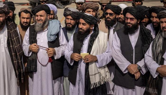 Taliban Spokesman Zabihullah Mujahid at Kabul airport after the withdrawal of US forces. File photo