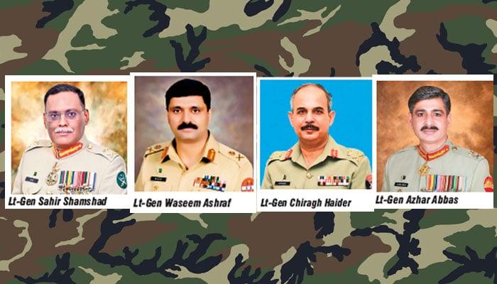 Four three-star generals reshuffled