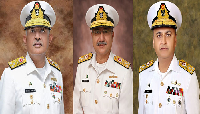 Three rear admirals of PN promoted as vice admiral