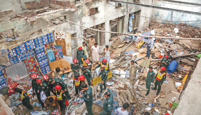 Woman killed, two hurt in Lahore roof collapse incident