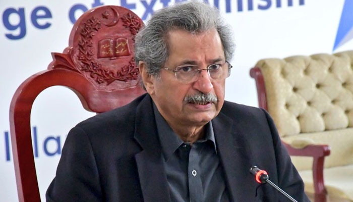 Minister for Federal Education and Professional Training Shafqat Mehmood