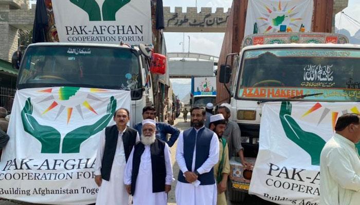 Islamabad sends 278 tonnes of edibles to Kabul