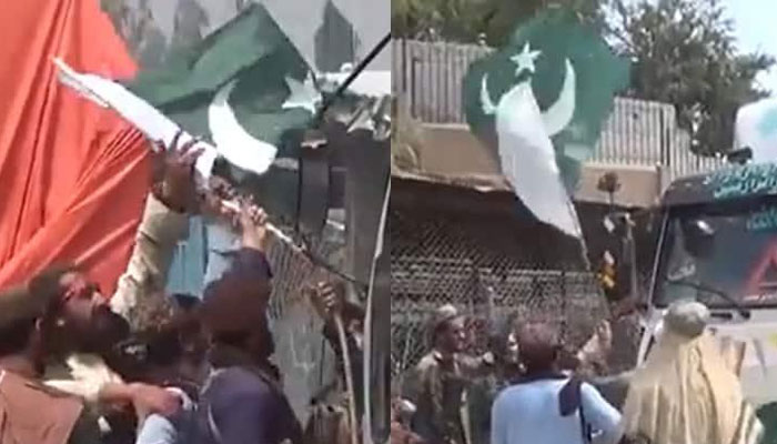 Taliban arrest four officials for removing Pak flag from aid trucks