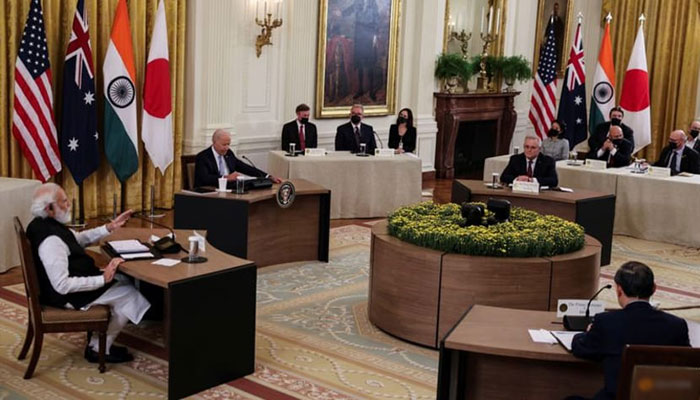 Veiled dig at rival China: Leaders of Australia, India, Japan, US stress 'stable' Pacific