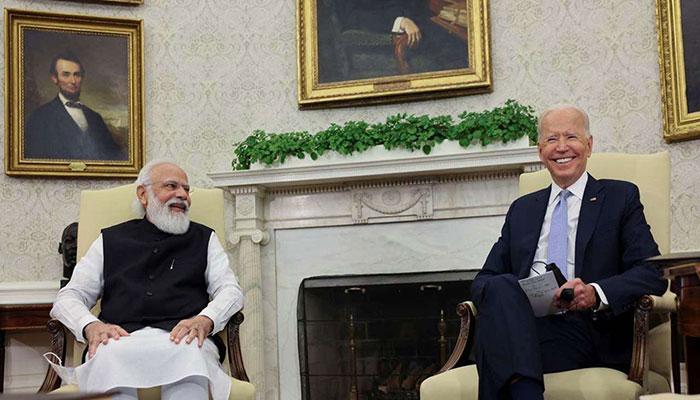 Modi traces Biden's Mumbai connection