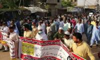 Villagers berate Sindh govt for not altering Malir Expressway's route