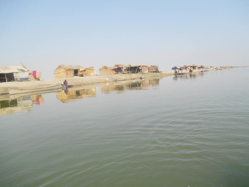 No lake for fishermen