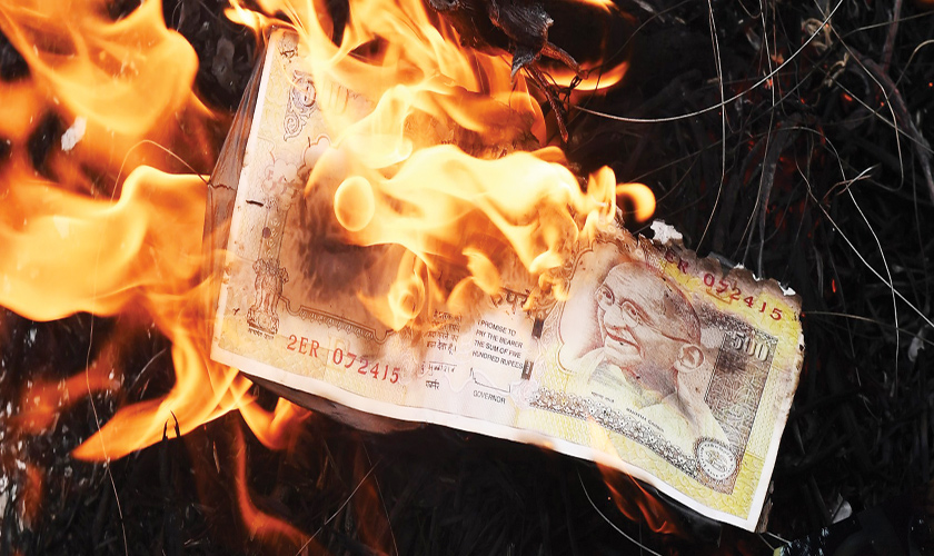 Self-inflicted cash crunch