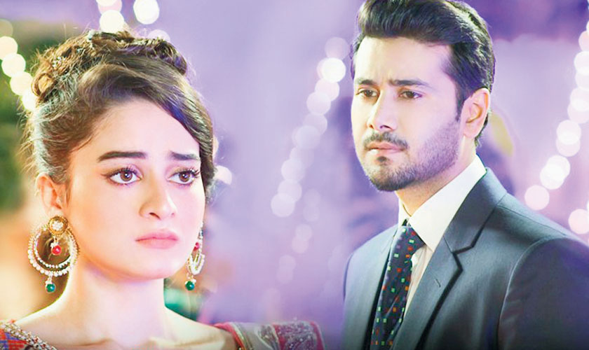 Aiman Khan and Ali Abbas in a still from drama serial Khali Haath.