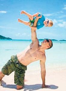 A super-fit dad