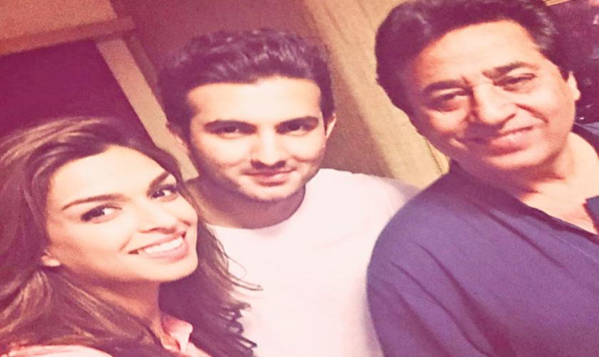 Sarish Khan with co-star Shahroz Sabzwari and director, Syed Noor.
