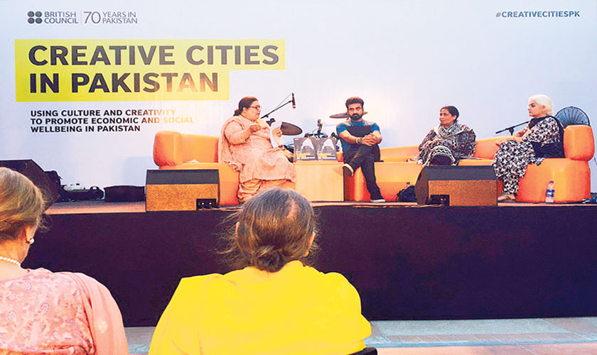 Saif Samejo, participated as a speaker during a panel discussion at the British Council Library in Karachi earlier this year on the occasion of the launch of the 'Creative Cities in Pakistan' report.