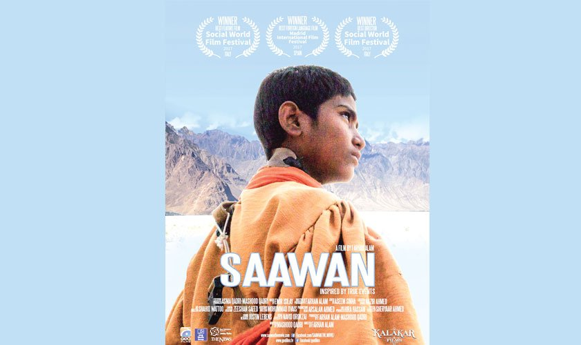 The titular role in Saawan is essayed by child artist Syed Karam Hussain