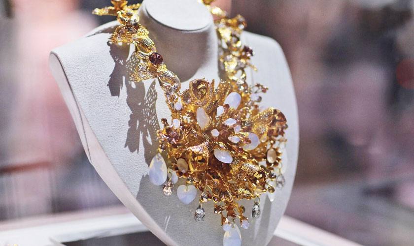 Rema Taseer's accessories made a very strong statement at the exhibition.