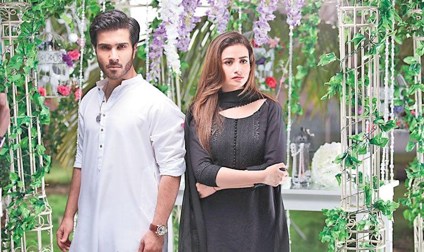 Feroze Khan and Sana Javed star as Hadi and Khaani.