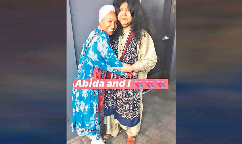 Jada Pinkett-Smith expresses her love for Abida Parveen
