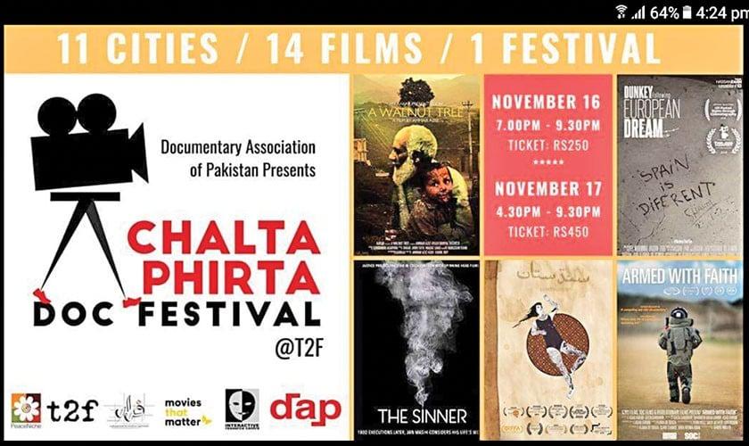 Chalta Phirta Documentary Film Festival to commence in Karachi