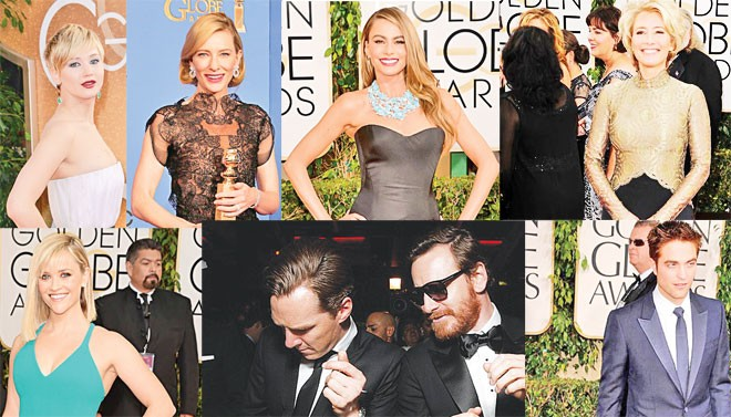 Golden Globes 2014 red carpet: Fashion lightens up as stars light up