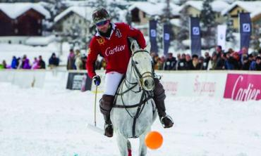 Hissam shines at the Snow Polo World Cup