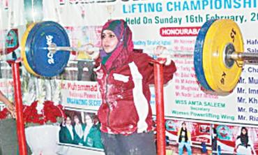 Power-lifting gets popular among Pak women