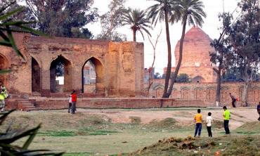 Tomb in progress