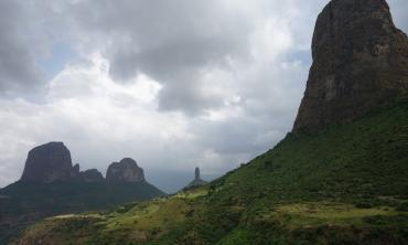 Hiking the mountains in Ethiopia