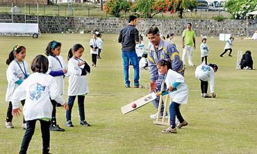 Empowering girls through cricket