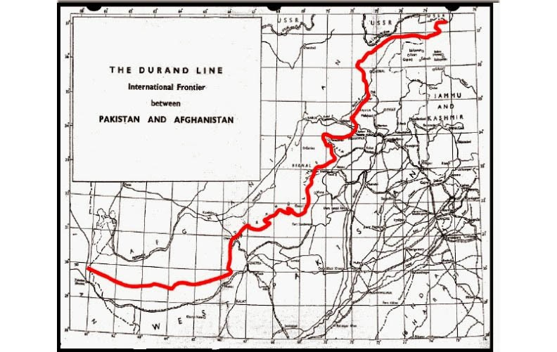 Durand line or border