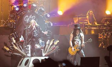 Hard rocking but less dangerous: The Guns n Roses reunion