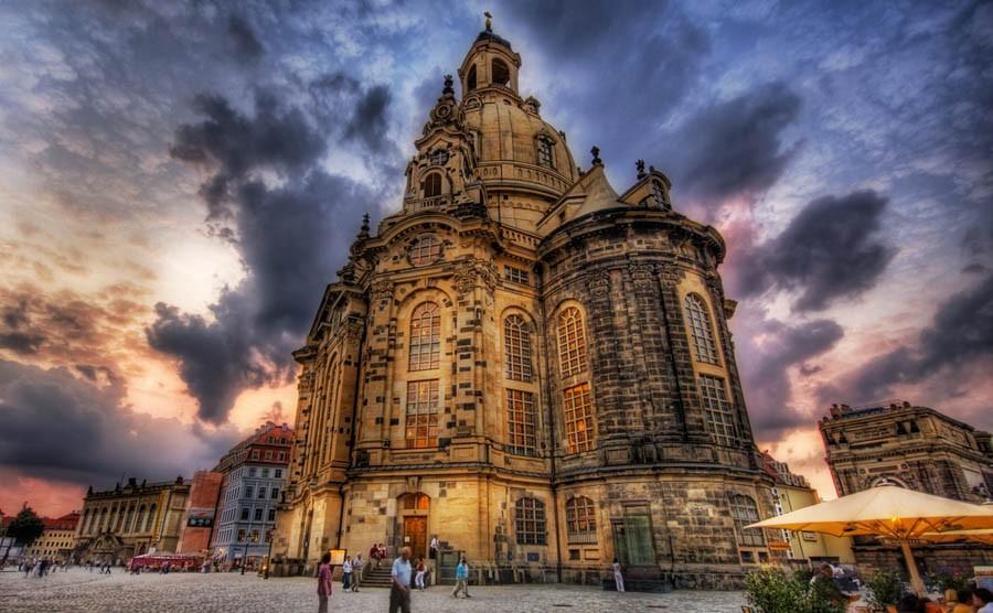 Alone in deserted Dresden