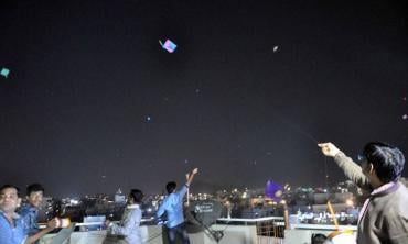 Kite flying by night
