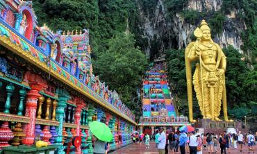 Deep inside the Batu Caves