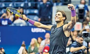 Nadal edges closer to history with 19th Grand Slam title