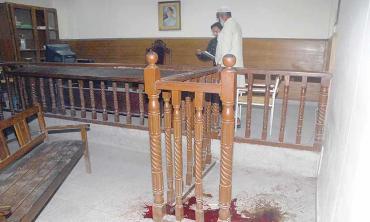 Terror in court