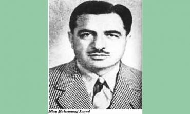 Yesterday's Greats: Mian Mohammad Saeed, Pakistan's first cricket captain