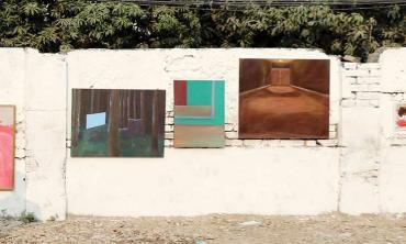 A pop-up  art show