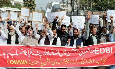 Pensioners' protest