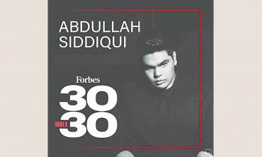 Abdullah Siddiqui recognized on Forbes 30 Under 30 Asia 2021 list